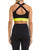 SPORTS BRA 77 CHAMPION BLACK AND YELLOW