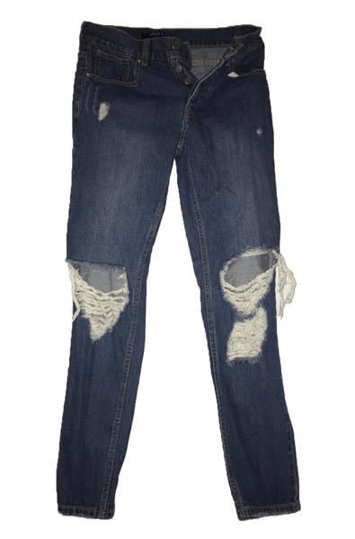 Forever 21 Dark Wash Ripped Jeans
