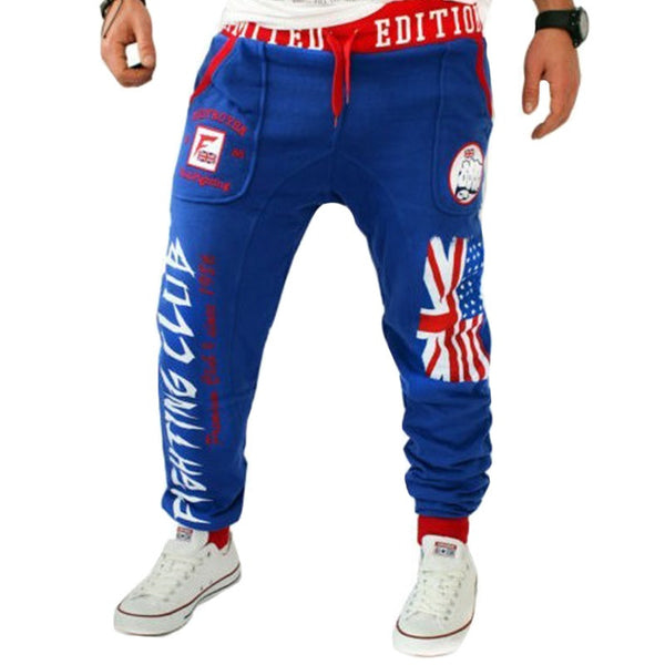 Men Joggers with British national flag Printing