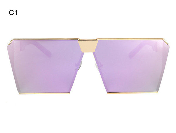 ROYAL GIRL New brand Mirrored Glasses Shield Style Oversize Purple Mirror Sunglasses