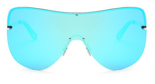 ROYAL GIRL Oversized Polarized Blue Mirror Sunglasses