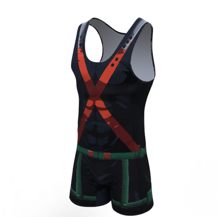 My Hero Academia 'Bakugo' Men's Powerlifting Singlet