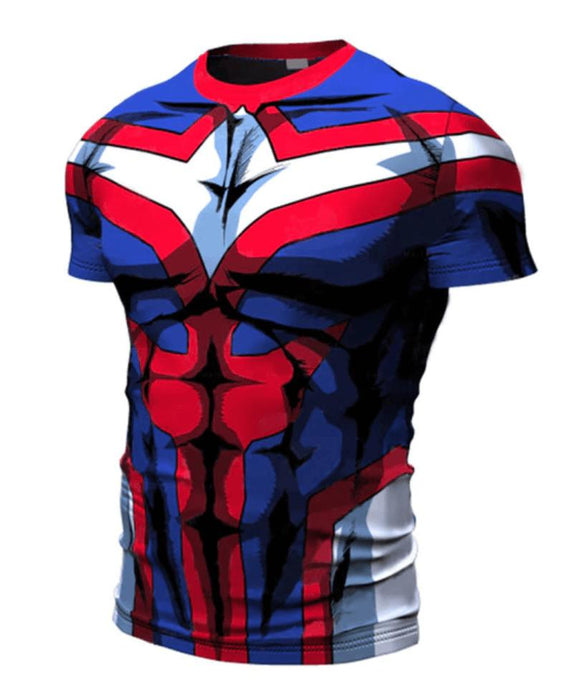 My Hero Academia 'All Might' Short Sleeve Compression RashGuard