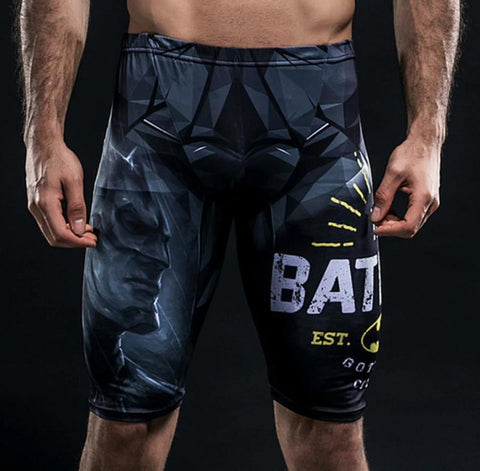 "Batman ""Est. Gotham City"" Compression Spats Grappling Shorts"