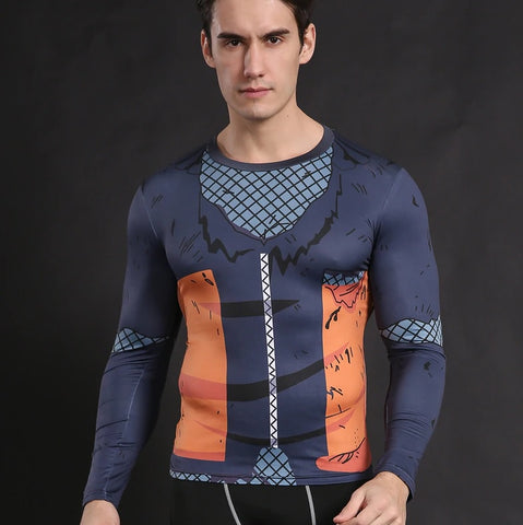 Teen Naruto 'Battle Damaged Armor' Long Sleeve Compression Rash Guard