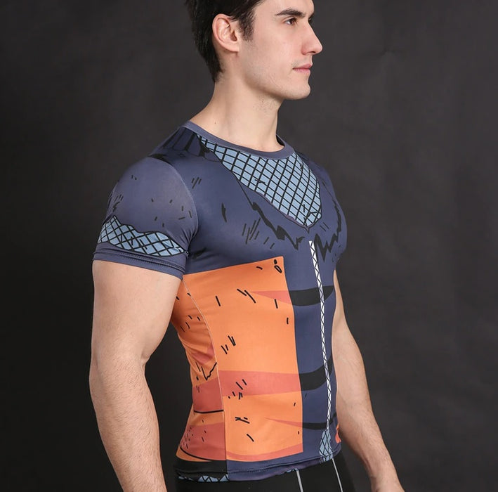 Teen Naruto 'Battle Damage' Short Sleeve Compression Rash Guard