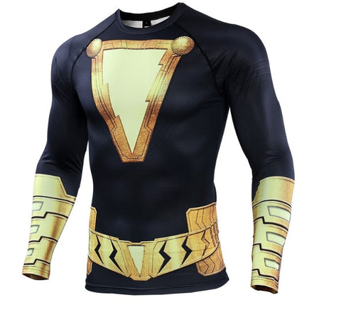 Black Adam Long Sleeve Compression Rash Guard