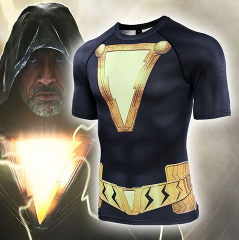 Black Adam Short Sleeve Compression Rash Guard
