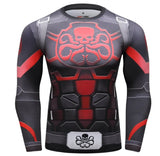 Captain America Steve Rogers 'Agent of Hydra' Elite Long Sleeve Compression Rash Guard