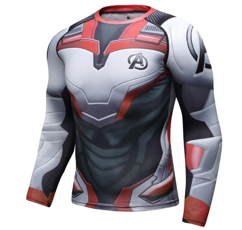 Avengers End Game 'Quantum Realm Suit' Elite Long Sleeve Compression Rashguard