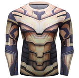 Thanos 'End Game Armor' Elite Compression Long Sleeve Rash Guard