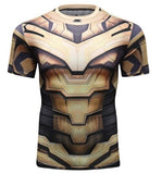 Thanos 'End Game Armor' Elite Compression Short Sleeve Rash Guard