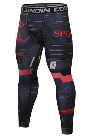 Captain America Steve Rogers 'Agent of Hydra' Elite Compression Leggings Spats