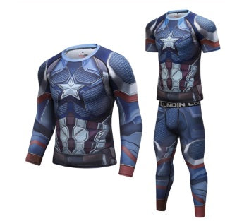 Captain America Steve Rogers 'End Game' Elite Compression Set