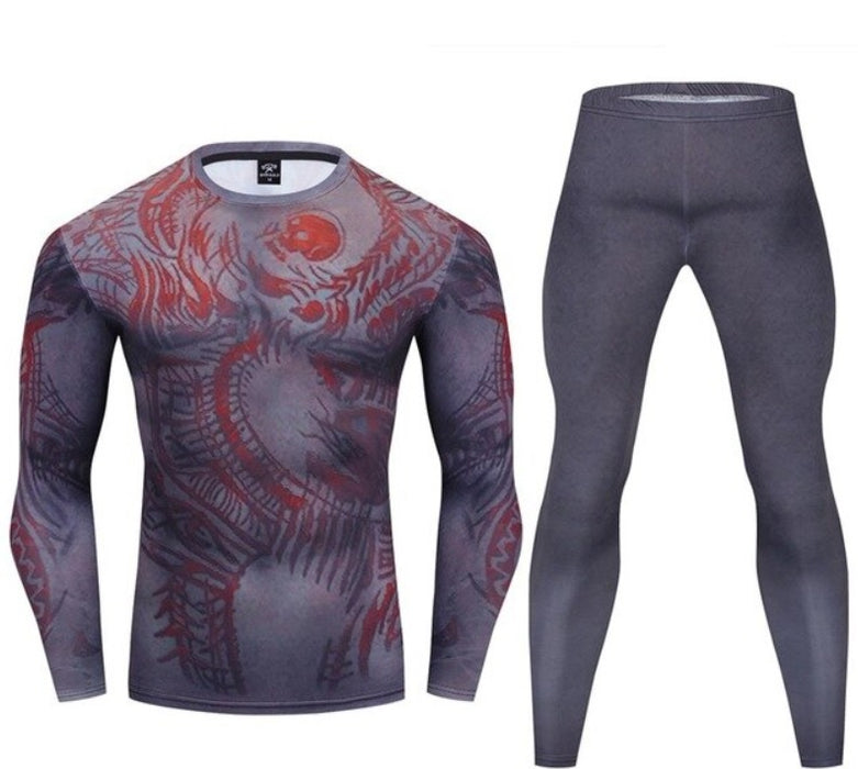 Warrior Compression 'D|R|A|X' Premium Long Sleeve Rashguard Set