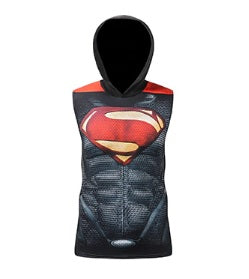 "Superman ""Dark"" Hooded Compression Tank Top"