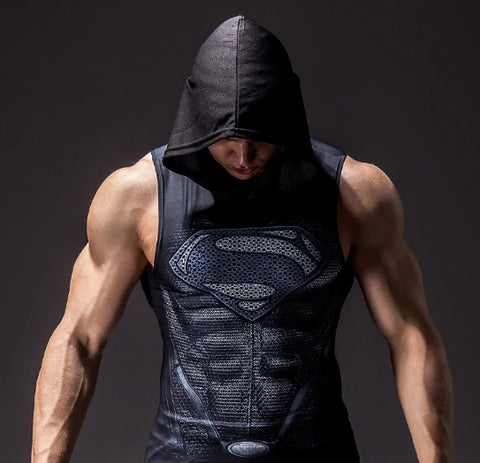 "Superman ""Reign Of Superman"" Hooded Compression Tank Top"