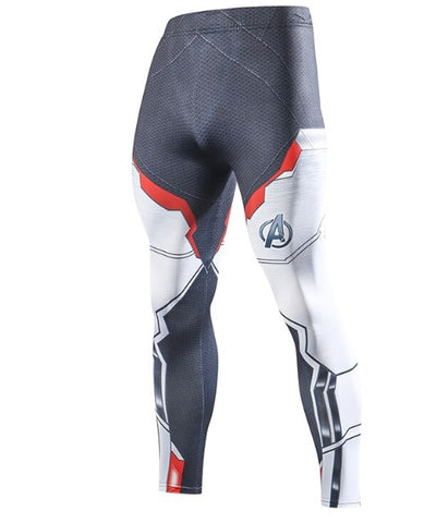 Men's Avengers End Game 'Quantum Realm Suit' Compression Leggings Spats