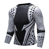 Aquaman 'Light Tattoo' Elite Long Sleeve Compression Rash Guard