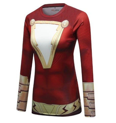 Women's Shazam Elite Long Sleeve Compression Rash Guard