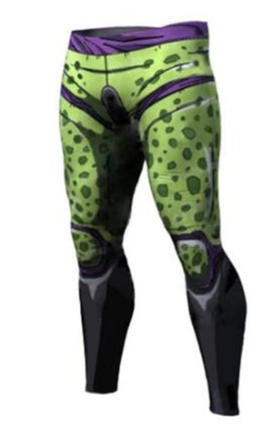 Men's Perfect Cell Dragon Ball Z Premium Compression Leggings Spats
