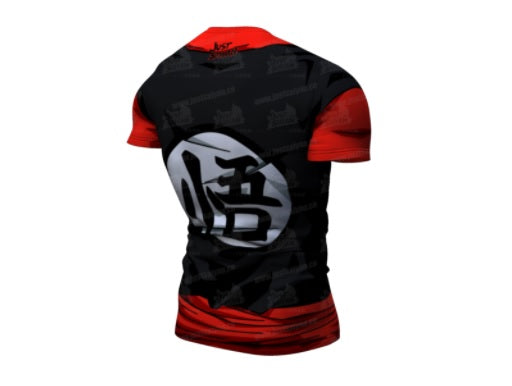 Dragon Ball Z Compression 'Goku Suzaku Gi' Premium Short Sleeve Rashguard