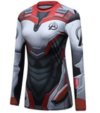 Women's Avengers End Game 'Quantum Realm Suit' Elite Long Sleeve Compression Rashguard