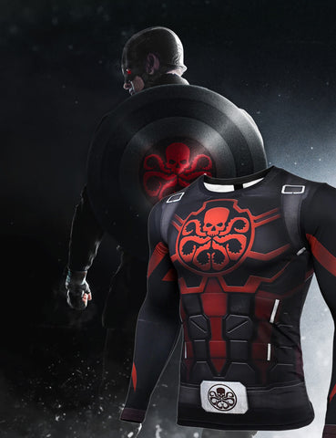 Captain America Steve Rogers 'Agent of Hydra' Premium Long Sleeve Compression Rash Guard