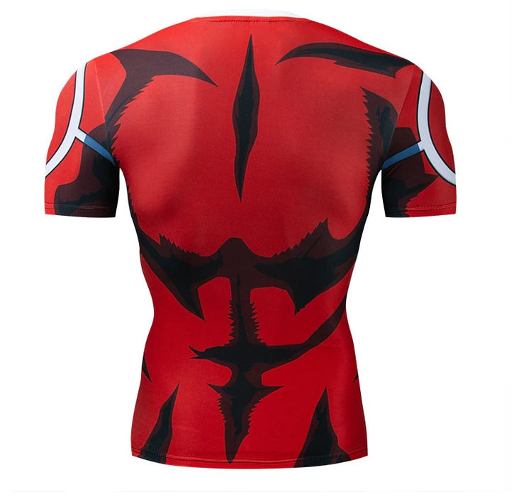My Hero Academia 'All Might Silver Age' Short Sleeve Compression RashGuard