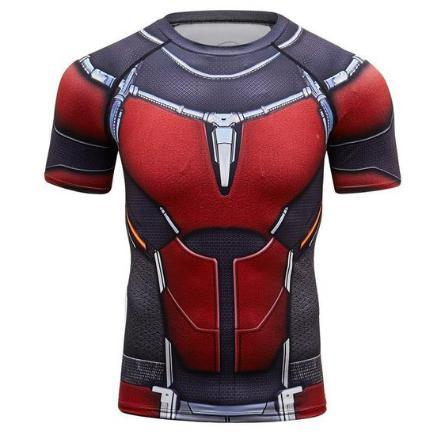Antman 2 Compression Short Sleeve Rash Guard-RashGuardStore