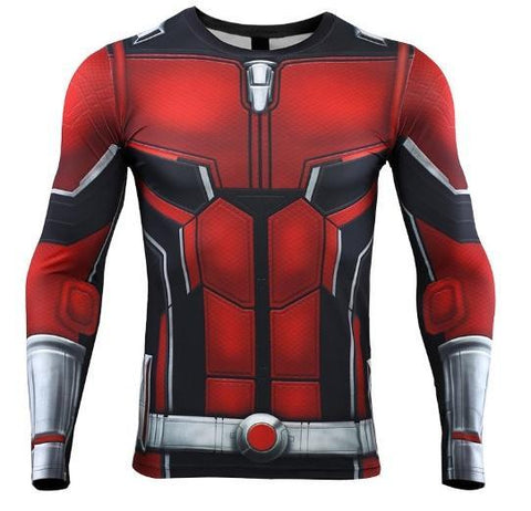 Antman 'End Game' Premium Compression Long Sleeve Rash Guard-RashGuardStore