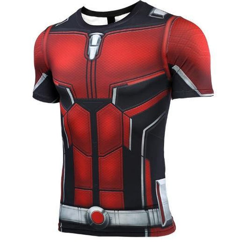 Antman 'End Game' Premium Compression Short Sleeve Rash Guard-RashGuardStore