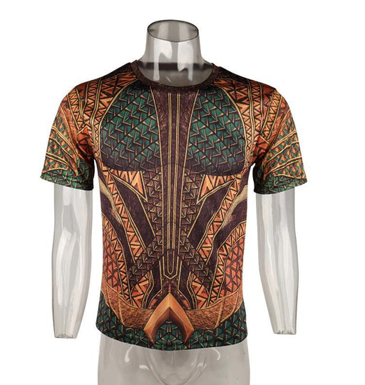 Aquaman Arthur Curry Tattoo Short Sleeve Compression Rash Guard-RashGuardStore