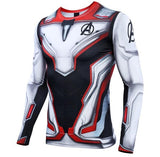 Avengers End Game 'Quantum Realm Suit' Premium Long Sleeve Compression Rashguard-RashGuardStore