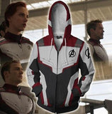 Avengers End Game 'Quantum Realm Suit' Zip Up Hoodie-RashGuardStore