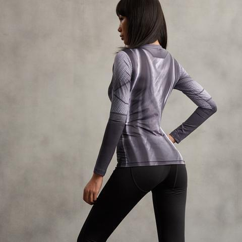 Batman Animated Women's Long Sleeve Compression Rash Guard-RashGuardStore