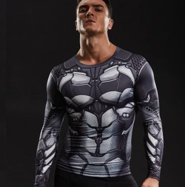 "Batman ""Bat-Bot"" Long Sleeve Compression Rashguard-RashGuardStore"