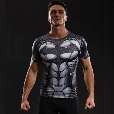 "Batman ""Bat-Bot"" Short Sleeve Compression Rashguard-RashGuardStore"