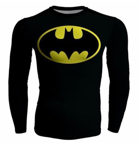 Batman 'Batman Returns' Compression Long Sleeve Rash Guard-RashGuardStore