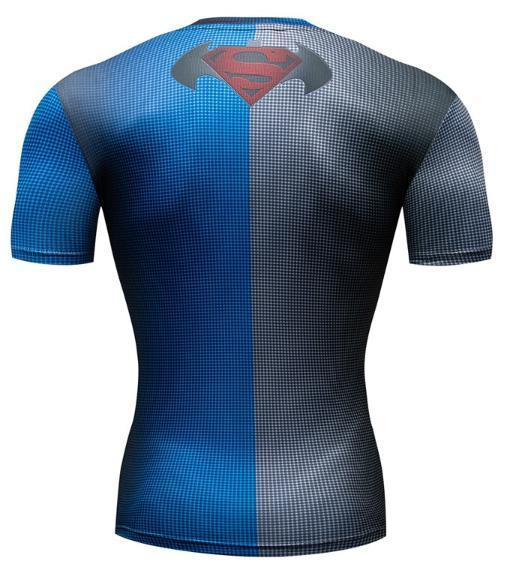 Batman 'Batman Vs Superman' Premium Dri-Fit Short Sleeve Rash Guard-RashGuardStore
