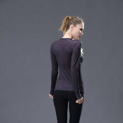 Batman Classic Women's Long Sleeve Rash Guard-RashGuardStore