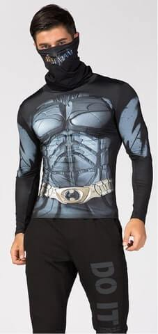 "Batman ""Dark Knight"" Long Sleeve Compression High Collar Rashguard-RashGuardStore"