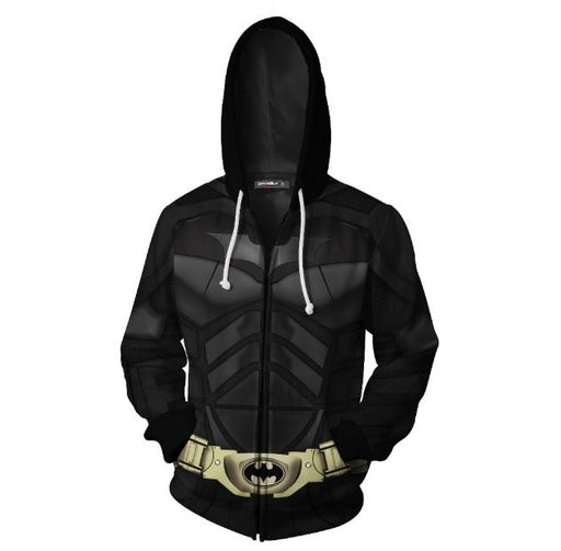 Batman 'Dark Knight' Zip Up Hoodie-RashGuardStore