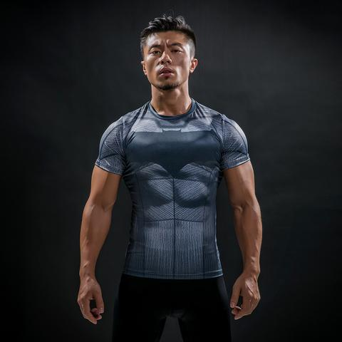 Batman 'Outsiders' Animated Short Sleeve Rashguard-RashGuardStore