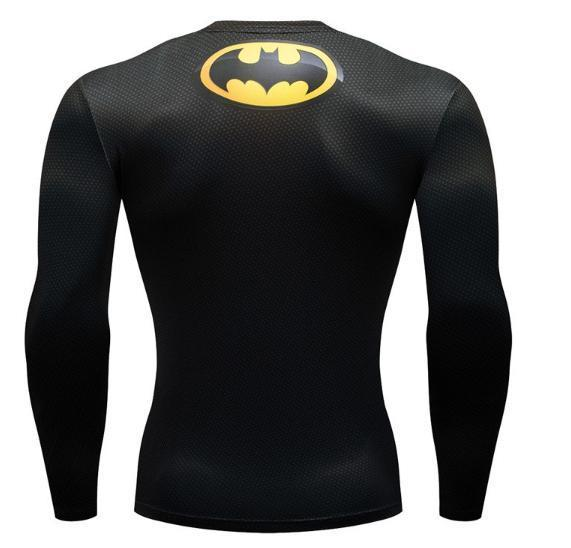Batman 'Tim Burton' Premium Dri-Fit Long Sleeve Rash Guard-RashGuardStore