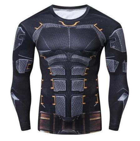 Batman 'Tumbler' Compression Long Sleeve Rash Guard-RashGuardStore