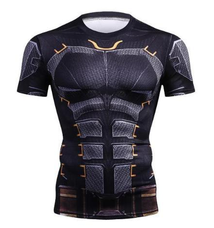 Batman 'Tumbler' Compression Short Sleeve Rash Guard-RashGuardStore