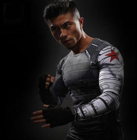 "Buck ""Winter Soldier"" Compression Long Sleeve Rashguard-RashGuardStore"