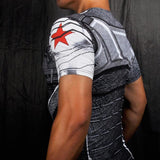 "Buck ""Winter Soldier"" Compression Short Sleeve Rashguard-RashGuardStore"