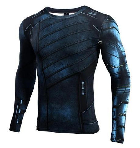 "Buck ""Winter Soldier"" Infinity War Compression Long Sleeve Rashguard-RashGuardStore"